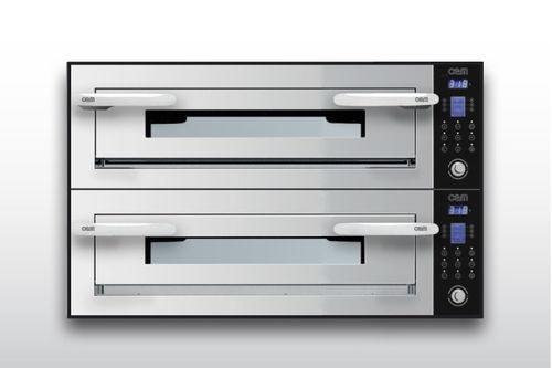 Horno eléctrico / para uso profesional / de energía mixta / con 2 cámaras OPTYMO CONCEPT: 635S/2 INOX OEM - Pizza System