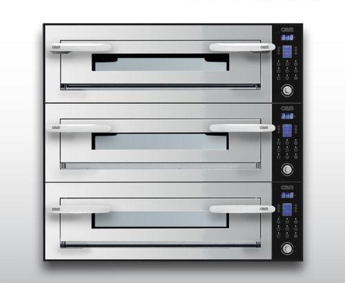 Horno eléctrico / para uso profesional / para pizzas / con 3 cámaras OPTYMO CONCEPT: 635S/3 INOX OEM - Pizza System