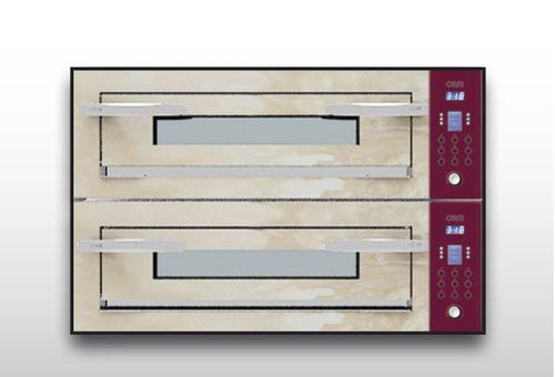 Horno eléctrico / para uso profesional / para pizzas / con 2 cámaras OPTYMO CONCEPT: 635S/2 ONYX OEM - Pizza System