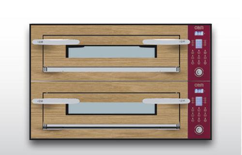 Horno eléctrico / para uso profesional / para pizzas / con 2 cámaras OPTYMO CONCEPT: 635S/2 WOOD OEM - Pizza System