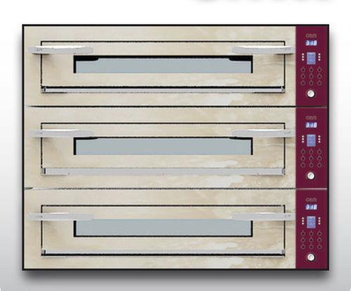 Horno eléctrico / para uso profesional / para pizzas / con 3 cámaras OPTYMO CONCEPT: 935/3 ONYX OEM - Pizza System