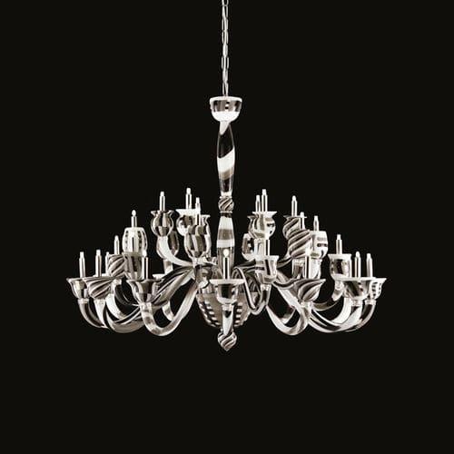 lámpara araña de diseño original / de vidrio soplado / de cristal de Murano / LED