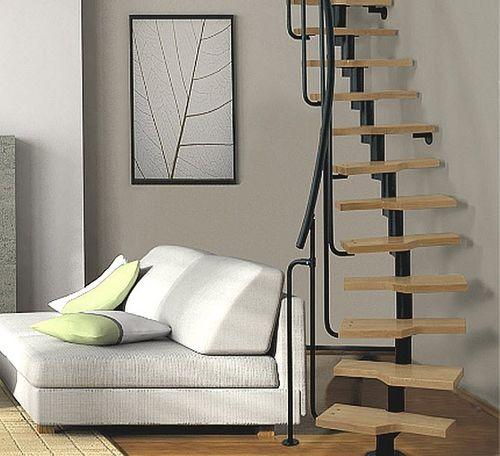 Escalera circular / peldaño de madera / estructura de metal / sin contrahuellas MINI Atrium
