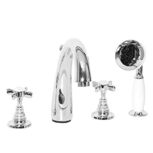 grifo mezclador para bañera / de libre instalación / de metal cromado / de baño