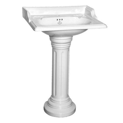 lavabo de pie / rectangular / de porcelana / clásico