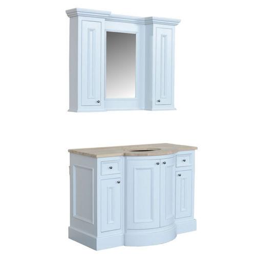 mueble de lavabo de pie / de roble / clásico / con espejo