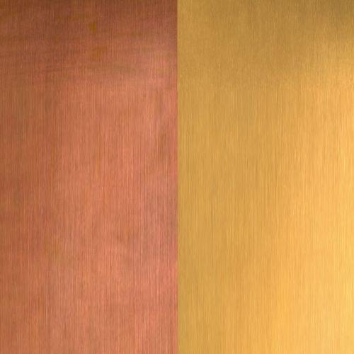 lámina de metal decorativa / de cobre / para revestimiento / para techado