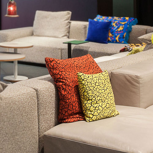 cojín para sofá / cuadrado / con motivos / de tejido