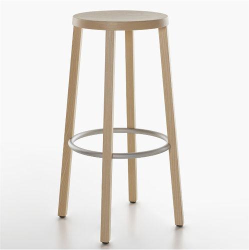 taburete de bar moderno / de fresno / de madera lacada / de madera tintada