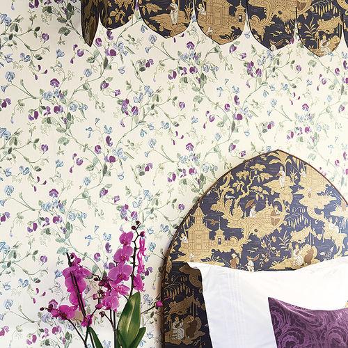 papel pintado moderno / con motivos florales / sin tejer / impreso