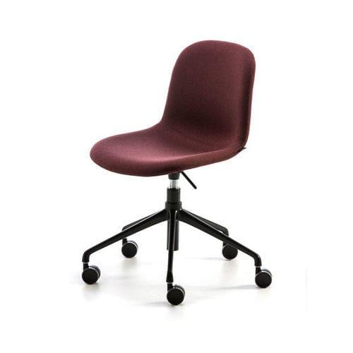 silla moderna / con ruedas / ajustable / de acero pintado
