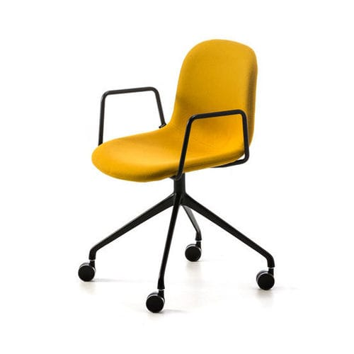 silla moderna / tapizada / con reposabrazos / con ruedas