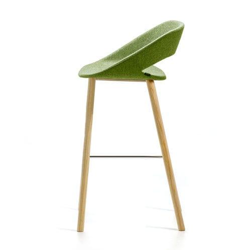 silla de bar moderna / tapizada / patín / de tejido