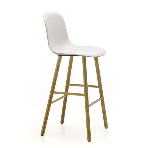 taburete de bar de diseño escandinavo / de fresno / de terciopelo / de algodón
