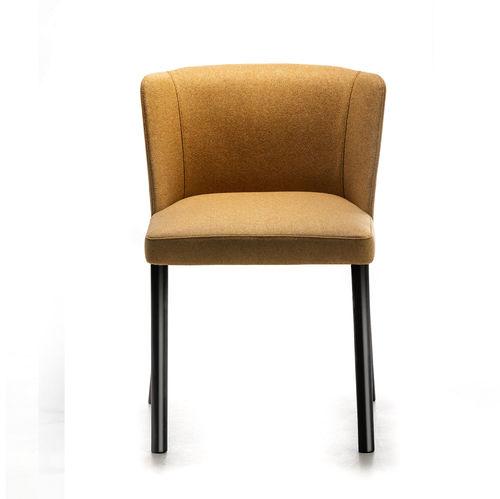 silla moderna / tapizada / de acero pintado / contract