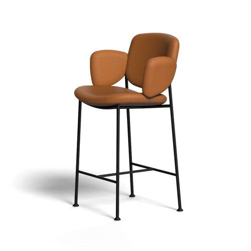 silla de bar moderna / tapizada / con reposapiés / con reposabrazos