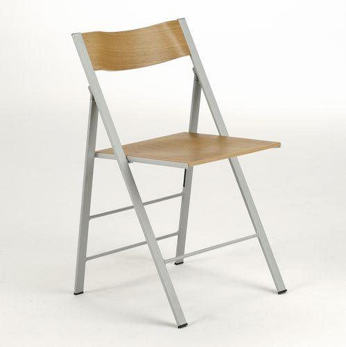 silla moderna / plegable / de fresno / contract