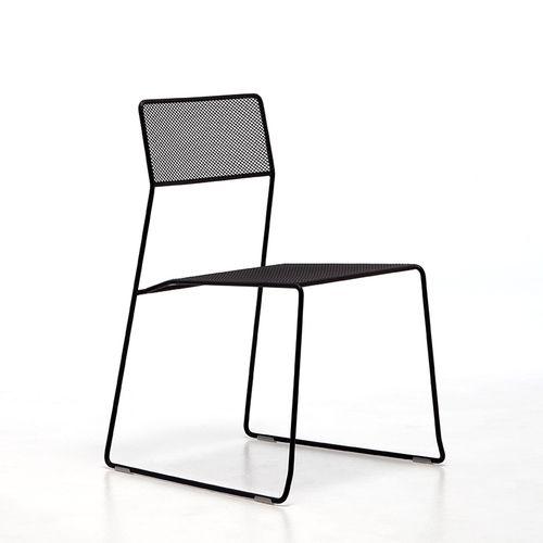 silla moderna / apilable / patín / de malla
