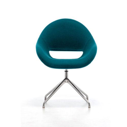 sillón moderno / de aluminio / contract / para hotel