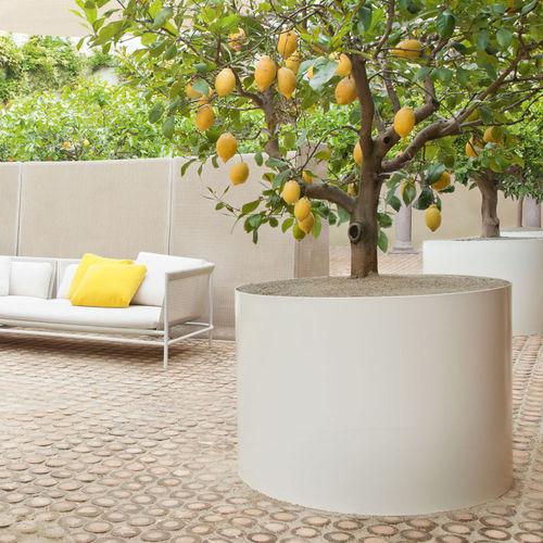 Jardinera de acero inoxidable / redonda / moderna SHIELD by Bestetti Associati PAOLA LENTI