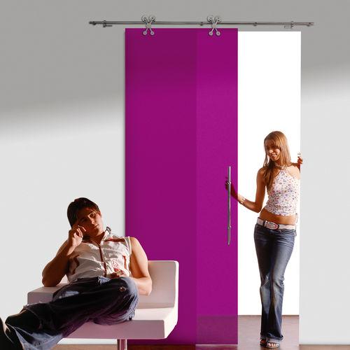 Sistema corredero para puerta de vidrio EXTERUS : 7550 SINGLE LEAF KRONA KOBLENZ SpA