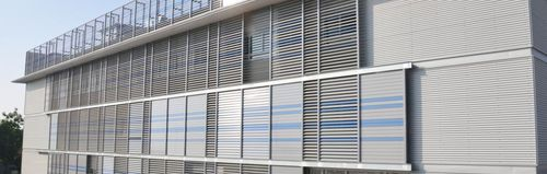 Celosía con lamas de aluminio / para fachada / orientable DUTEC 150r Durmi