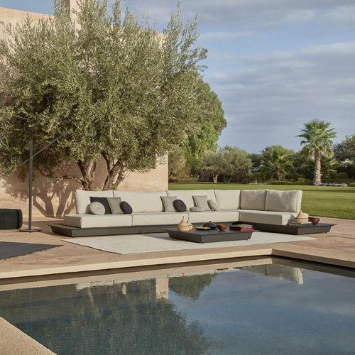 sofá modular / moderno / de exterior / de tejido