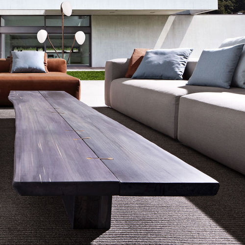 mesa de centro moderna / de madera / rectangular / de jardín