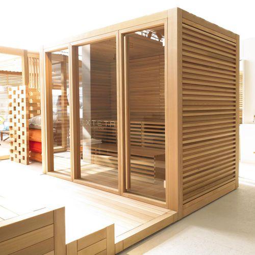 sauna para uso residencial / de madera de cedro / para exterior