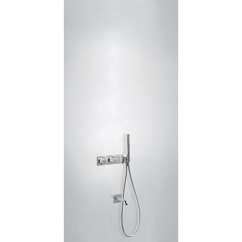 set de ducha empotrable de pared / moderno / con alcachofa / termostático