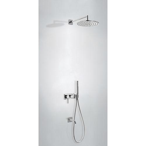 set de ducha empotrable de pared / moderno / con alcachofa / con rociador ajustable