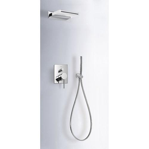 set de ducha empotrable de pared / moderno / con alcachofa / con rociador fijo