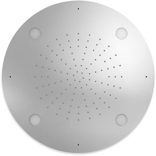 rociador de ducha empotrable de techo / redondo / lluvia / con cromoterapia