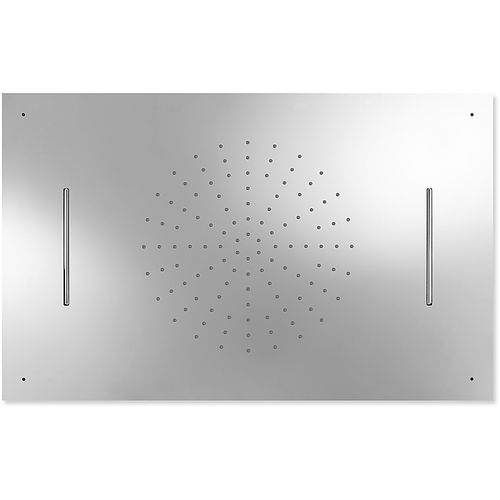 rociador de ducha empotrable de techo / rectangular / lluvia