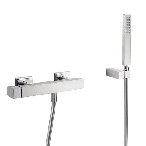 grifo monomando para ducha / de pared / de metal cromado / de baño