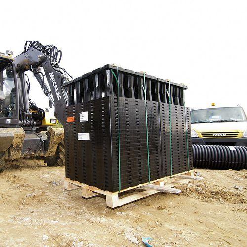 módulo de gestión de aguas pluviales enterrado