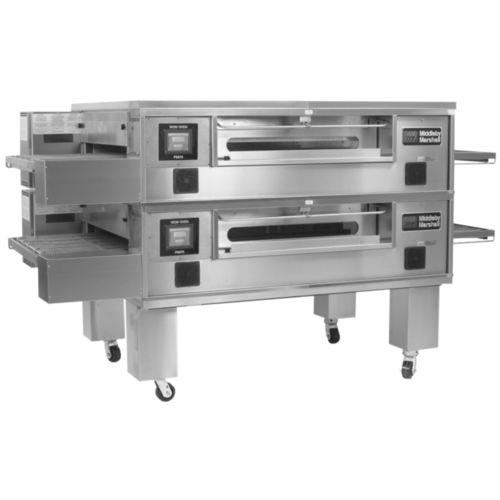 horno de gas / profesional / con transportador / para pizzas