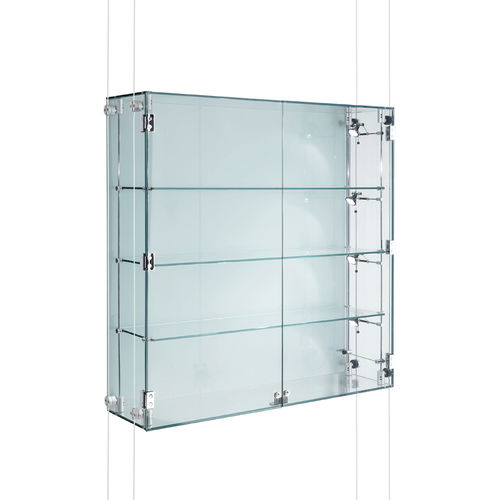 Vitrina moderna / de pared / de vidrio / de aluminio CMC001 Shopkit