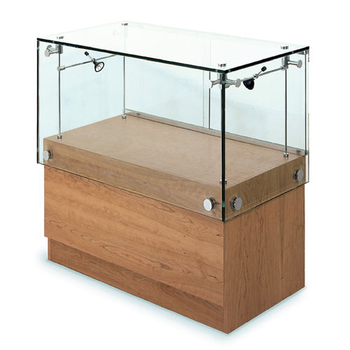 Vitrina moderna / de vidrio / de roble / con luz WG003.WV Shopkit