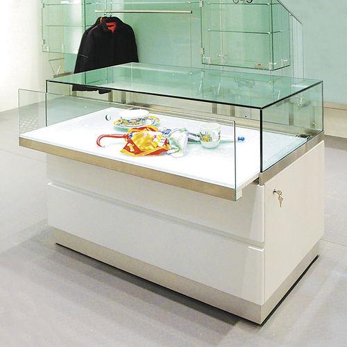 Vitrina moderna / de vidrio / de madera / baja WG004.CL Shopkit