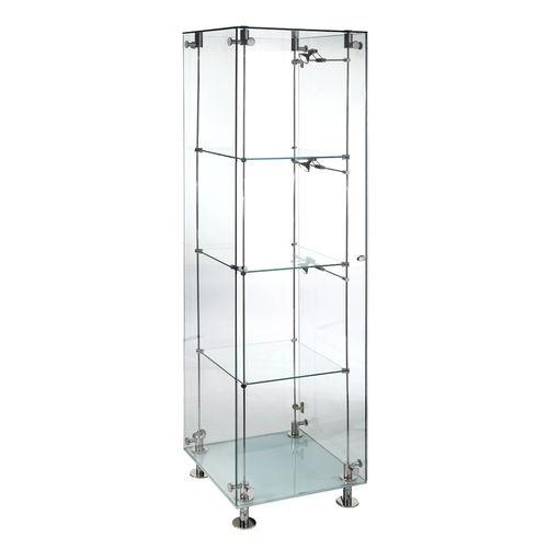 Vitrina moderna / de vidrio / con luz / profesional SSG002.500 Shopkit