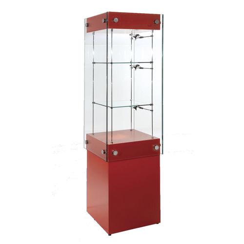 Vitrina moderna / de vidrio / con luz / profesional WG002.CL Shopkit