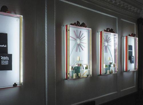Vitrina moderna / de pared / de vidrio / de acero inoxidable WFG002 Shopkit