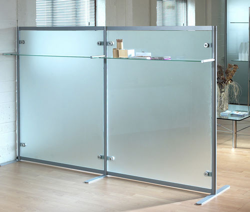 Separador para oficina para suelo / de vidrio / modular Shopkit