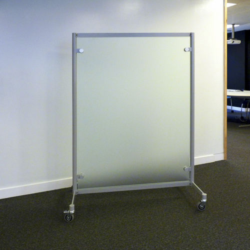 Separador para oficina para suelo / de vidrio / con ruedas MWBS1000 Shopkit