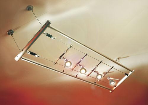 Iluminación sobre cable halógena / redonda / de metal / de interior GANTRIES Shopkit