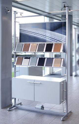 Estantería moderna / de vidrio / profesional / retroiluminada Shopkit