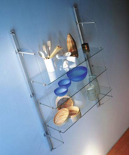 Estantería mural / moderna / de vidrio FIN Shopkit