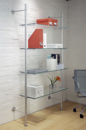 estantería mural / moderna / de vidrio