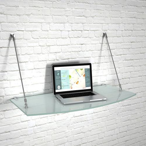 estantería mural / moderna / de vidrio / para comercio
